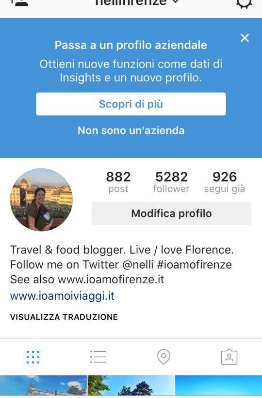 Account business di Instagram